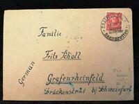 Deutschland Alliierte Besetzung 04.01.1946 - Brief Saalfeld nach Schweinfurt