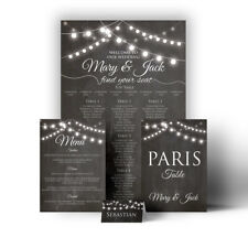 Festoon Chalkboard Wedding Seating Plan Table Chart Menus Place Cards Canvas