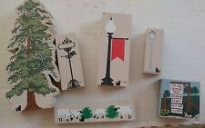 6 Cat's Meows Decorations Redwood, Signs, Lamp Post, Sheep