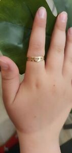 18ct gold wishbone heart ring size T