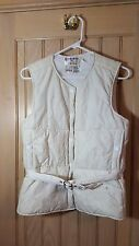 SKIMER SKEA VTG Off White 5 Snap Insulated Ski Snow Sport Vest w/ Belt Size 6