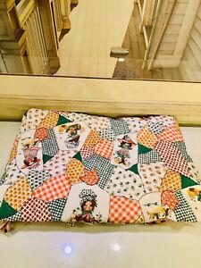 "Vintage Petticoats and Pantaloons Baby Quilt Crib Fabric 41 x 62"""