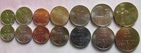 SLOVAKIA SET 7 COINS 10 20 50 HAL 1 2 5 10 KORUNA 2001 - 2007 UNC