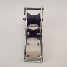 "Stainless Steel 316 Bow Anchor Roller 8"" Fixed & Black nylon roller For Boat"