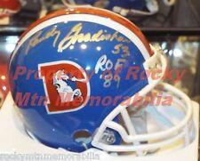 "Signed Broncos RANDY GRADISHAR D-STYLE MINI HELMET w/ ""ROF '89"" Orange Crush"