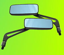 Paar Spiegel schwarz matt Motorradspiegel Lenkerspiegel Rückspiegel M10x1.25 NEU