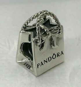 New Genuine Pandora Shopping Bag Purse Charm 791184 Sterling Silver S925 ALE