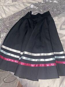 Girls Black Character Dance Skirt Adjustable Waist Beautiful Condition