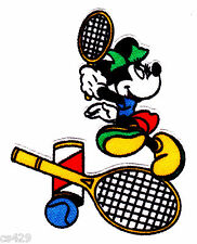 "3.5"" DISNEY MINNIE MOUSE SPORTS TENNIS  CHARACTER FABRIC APPLIQUE IRON ON"