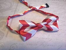 Childrens adjustable bow Tie newborn-teen red white chevron christmas photo prop