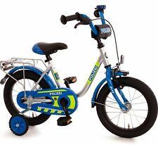 Kinderfahrrad 14 Zoll Fahrrad für Kinder Junge Mädchen Kinderrad Blau Polizei