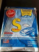 Genuine Hoover 3 Pack Type S Canister Vacuum Bags Allergen Filtration