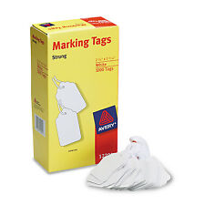 Avery Medium-Weight White Marking Tags 2 3/4 x 1 11/16 1 000/Box 12201