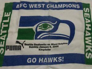 Seattle Seahawks Souvenir Towel, Last Giveaway in Kingdome, Last Win for Marino