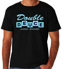 Double Deuce Bar Roadhouse Classic 80's USA Action Movie New Black Mens T-Shirt