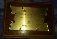 TARGA LA PANIA - CONTRADA DEL NICCHIO - Raduno Auto Moto 1995 - Palio di Siena