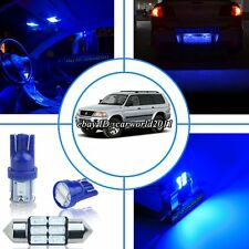 12x Deep Pure Blue LED Interior Light Package Kit For Mitsubishi Montero 1998-02
