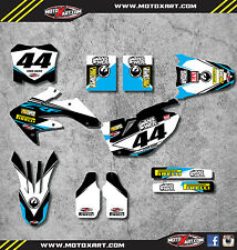 Honda CRF 250 - 2008 - 2009 Full Custom Graphic kit EURO Style stickers decals