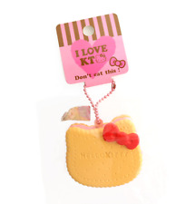 SANRIO HELLO KITTY Strawberry Sandwich Cookie Kawaii RARE Squishy Keychain Charm