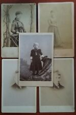 Vintage Cabinet Photos lot of 5 - child, teenage girl, young wife - High Kicker