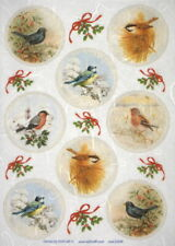 Rice Paper - Bird Collection - for Decoupage Decopatch Scrapbook Craft