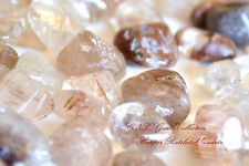 Tumbled Gemstone Crystal Natural Copper Red Rutilated Hair Quartz Large 5g