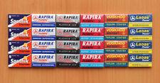 120 MIXED RAPIRA SPUTNIK VOSKHOD DOUBLE EDGE SAFETY RAZOR BLADES NEW 100