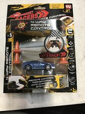Rc Mini Pocket Racers Remote Control with 4 cones. Black