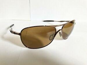 Oakley Crosshair Sunglasses OO4060 Bronze Alloy Metal Frame Brown Polarized Lens