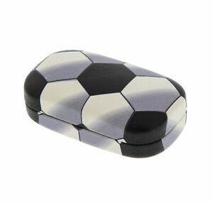 Hard Mod Black and White Polka Dot with Interior Mirror Contact Lens Travel Case
