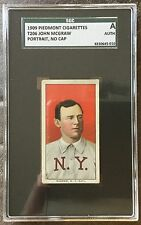 1909-1911 T206 White Borders John McGraw NY (NL) Piedmont 150/25 SGC A Authentic