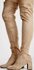 New 8 Free People Jeffrey Campbell Beige Tan Camel Thigh High Faux Suede PARKWAY