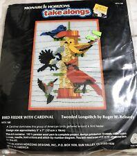 New Monarch Horizons Take Alongs Cardinal Bird Feeder Counted Cross Stitch Kit