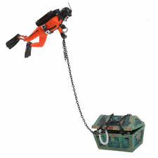 Treasure Hunter Diver Action Figure Fish Tank Ornament Aquarium Decor