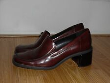 EEUC Mint Naturalizer Women's S37 785N63 Brown Leather Heels Size 7M Shoes