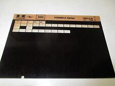 Kawasaki KG5000 - A Series Parts List Micro Fiche