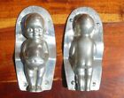 Vintage Chocolate Mold Laurosch Early Doll Baby 7 1/2 inches Beautiful Patina