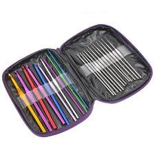 1 Paket Metall Häkelnadel Stricknadeln Aluminium Nadel Set Schutztasche