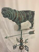 LARGE  Handcrafted 3 Dimensional Bull DOG Weathervane Copper Patina Finish