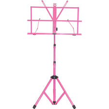 Hot Pink Sturdy Folding Music Stand w Carrying Bag