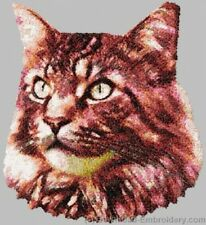 Large Embroidered Zippered Tote - Maine Coon Cat DLE2658