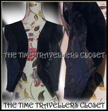 NEW Kate Moss Topshop Ltd Ed Black Faux Suede & Leather Crop Waistcoat UK 12 14