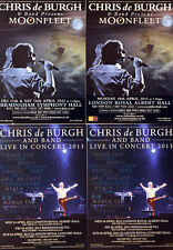 CHRIS DE BURGH FLYERS 2011 LONDON & BIRMINGHAM MOONFLEET CONCERTS & 2013 TOUR