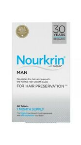 2x Nourkrin Man For Hair Growth And Preservation 60 Tablets