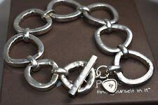 "Silpada Sterling Silver ""Silver Rush"" Link Toggle Bracelet B2709 SO CUTE! $209"