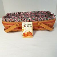 Longaberger Rose Basket Set 2nd IN MAY SERIES+RETIRED+RARE+PRODUCT CARD COUNTRY