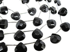 Black Onyx Beads, Faceted Briolettes, 10mm, Luxe AAA, 10mm Briolettes, SKU 4033A