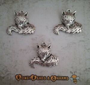❤ Fox Charms/Pendants ❤ Pack of 3 ❤ CRAFTING/JEWELLERY MAKING ❤