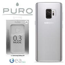 PURO Custodia NUDE Ultra Slim 0.3 Per Galaxy S9 G960 Cover Trasparente Silicone