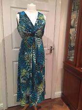 David Emanuel dress Peacock coloured stretch sz16 excellent condition